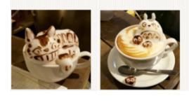 十多种拉花咖啡的图案,新年快乐这个拉花是现在迫切要学会的